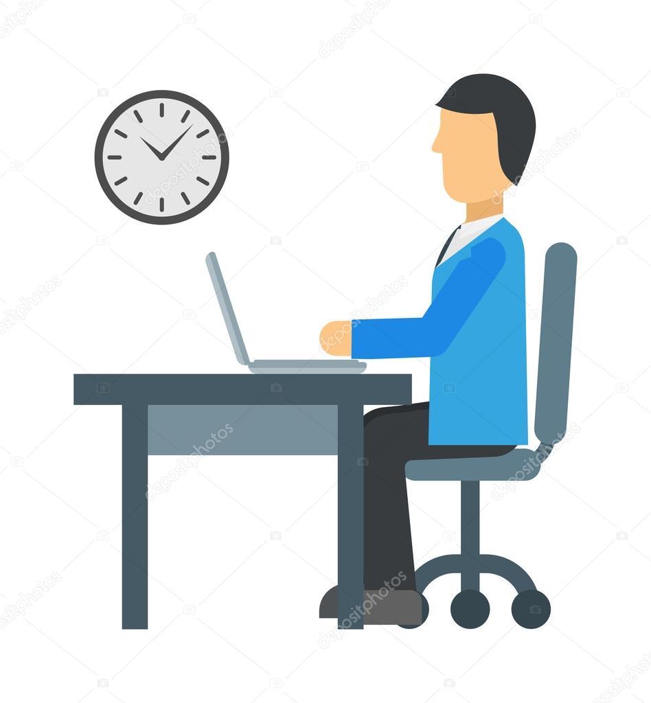 time to work vector illustration ストックベクター adekvat