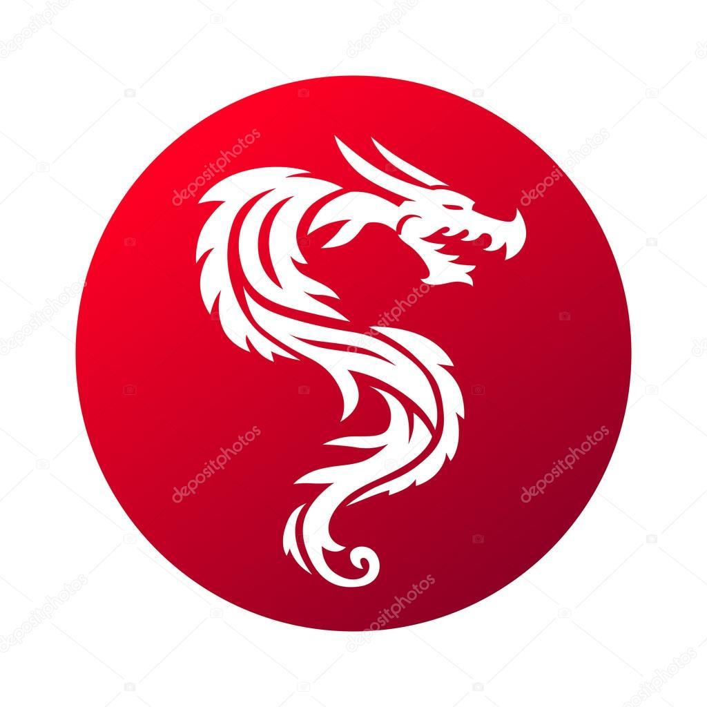 Red Dragon Vector Illustration Stock Vector Adekvat 108198890