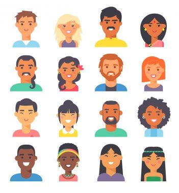 People nationality race vector illustration.