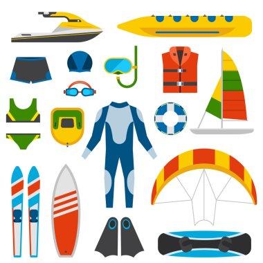 Summer fun entertainment vector illustration.