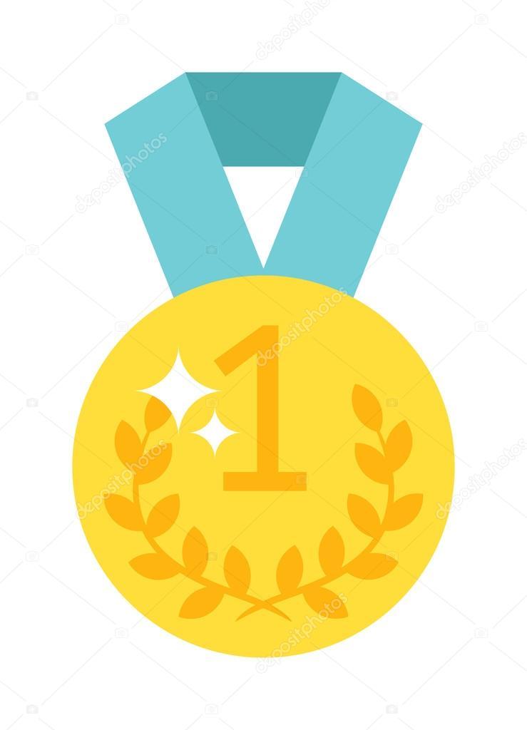 one number medal vector illustration stock vector adekvat