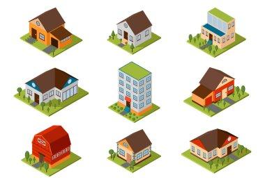Isometric house vector illustration.