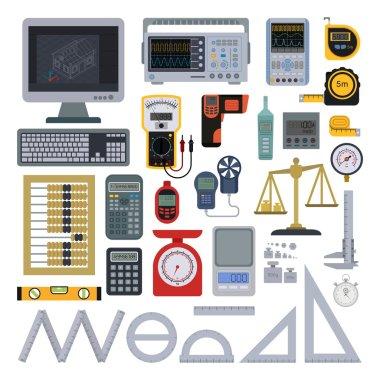 Measurement tools vector illustration.