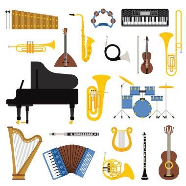 Music instruments vector illustration.