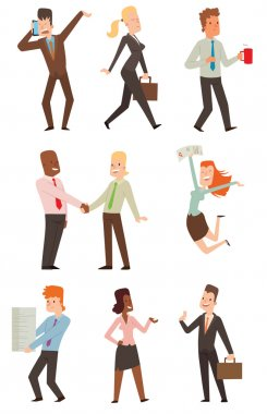 Business people vector illustration.
