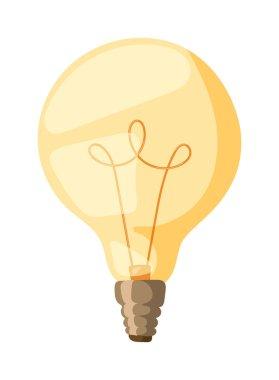 Light bulb vector illustration.