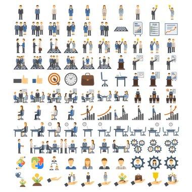 Teamwork icons vector illustration.