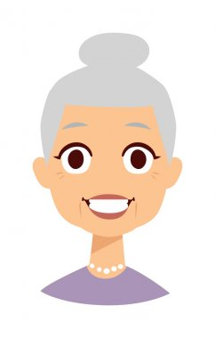 Cute granny vector illustration.