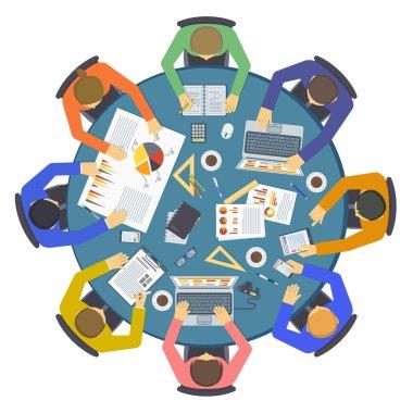 Teamwork people vector illustration.