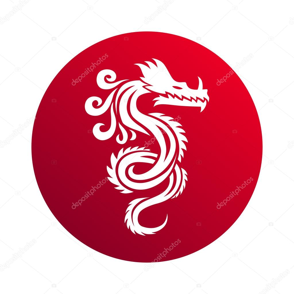 Chinese Dragon Vector Illustration Stock Vector Adekvat 111118374