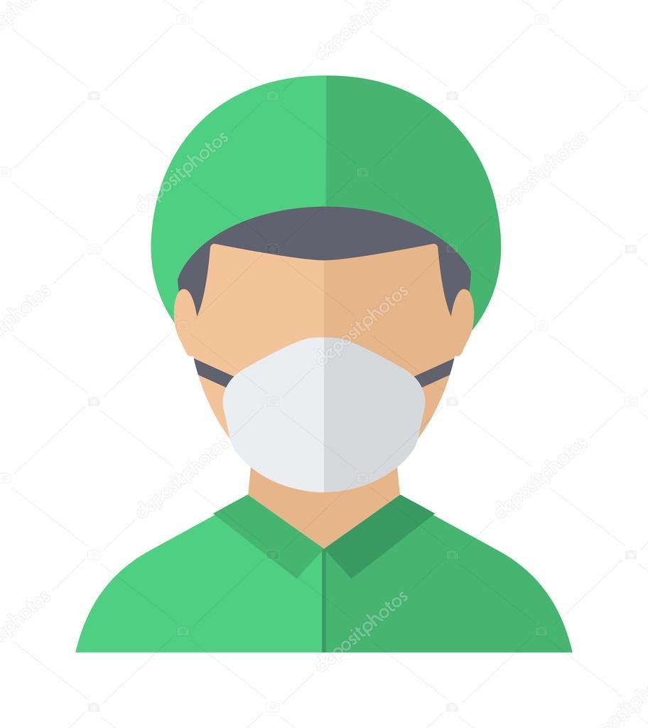 Doctor face vector illustration.