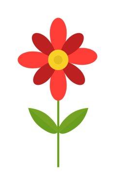 Flower isolated vector illustration.