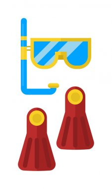 Snorkeling vector illustration.