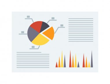Business report vector illustration.