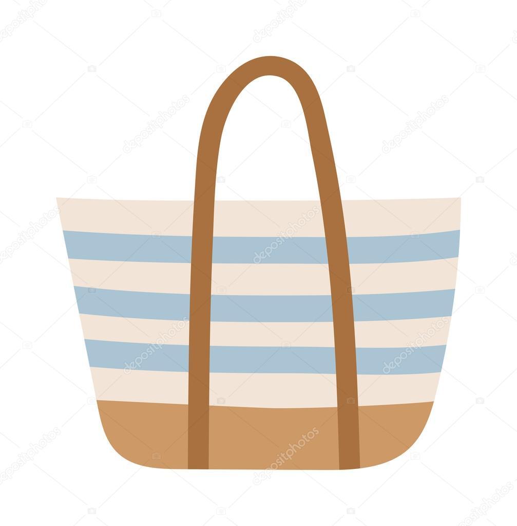 Elszigetelt fehér nyári táska — Stock Vektor © adekvat  112147944 ce0d7d1df6