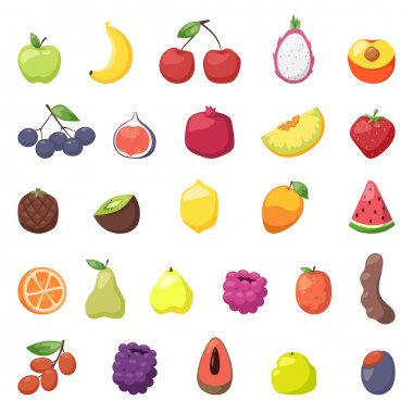 Fruits berries vector illustration.