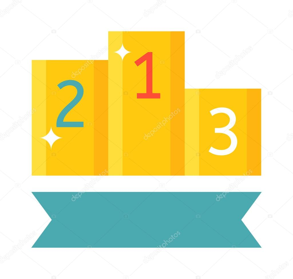 Winners Podium Vector Illustration Stock Vector
