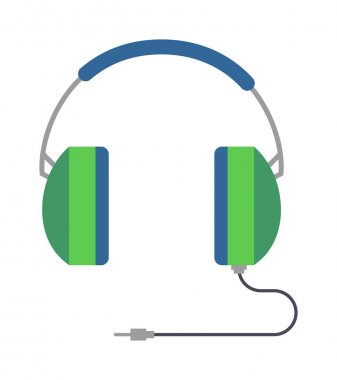 Headphones vector illustration.