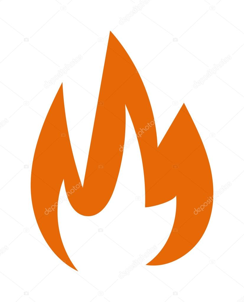 Ateş Alev Vektör çizim Stok Vektör Adekvat 112851612