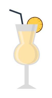 Mojito glass vector illustration.
