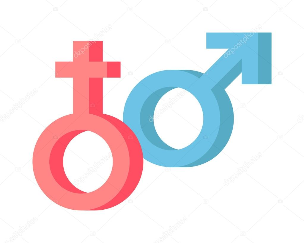 Male And Female Symbols Vector Combination Stock Vector Adekvat