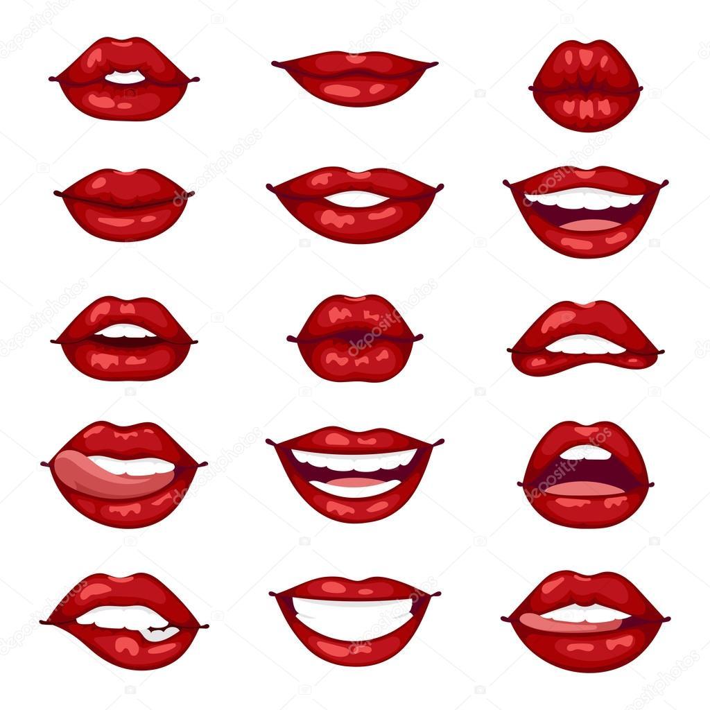 female lips isolated vector illustration stock vector adekvat rh depositphotos com Lips Vector Eye Vector