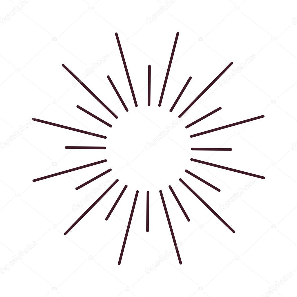 Line Drawing Sun Vector : Abstract bursting rays sun lines illustration — stock