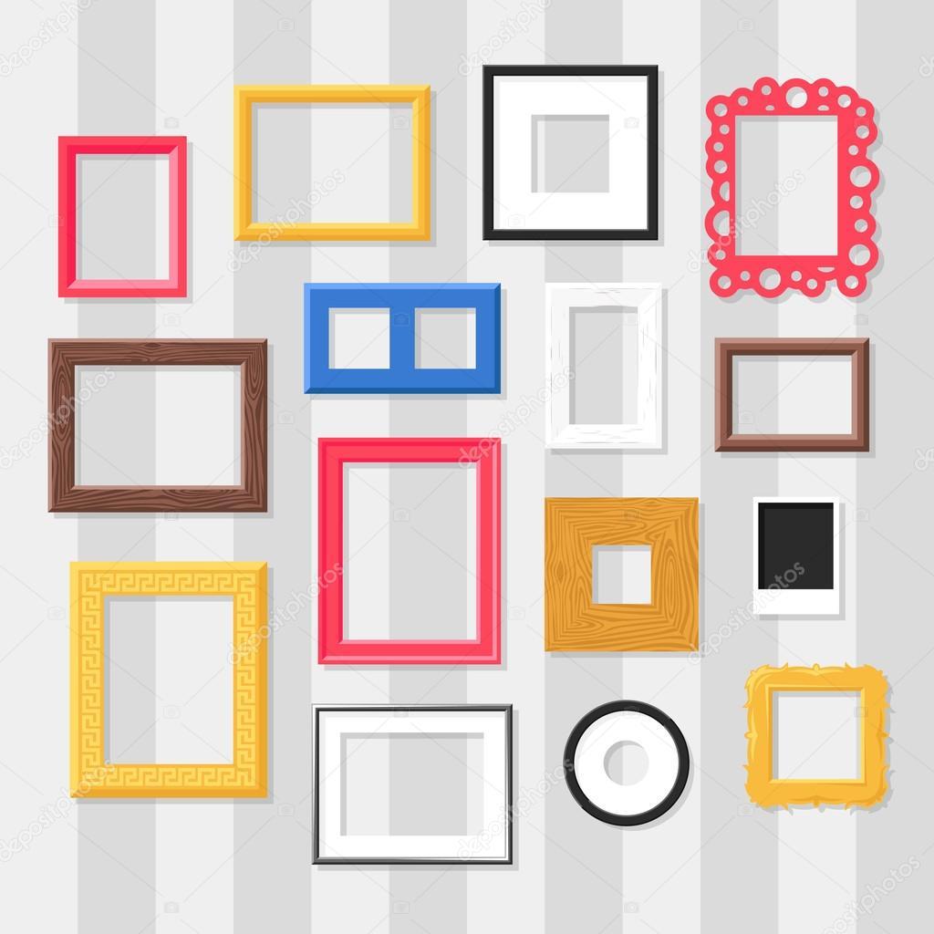 Conjunto de vector de marco foto — Archivo Imágenes Vectoriales ...