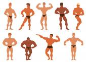 Fotografie Mens-Physik-Bodybuilder-Vektor-illustration