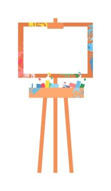 Easel art board vector