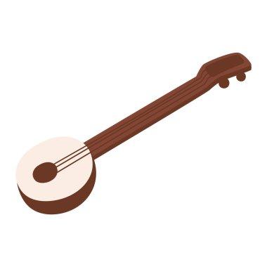 Banjo guitar vector illustration.