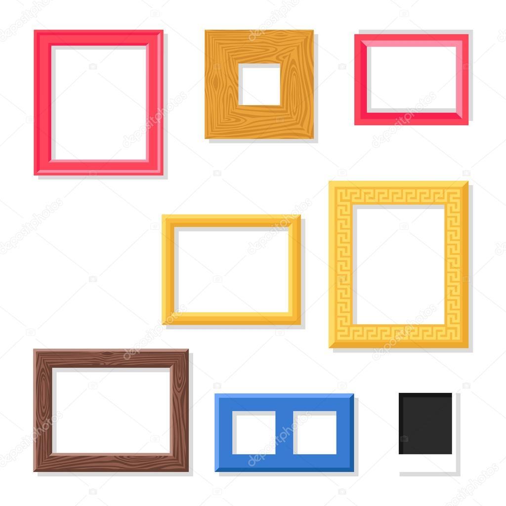 Conjunto de vector de marco foto — Vector de stock © adekvat #120550822