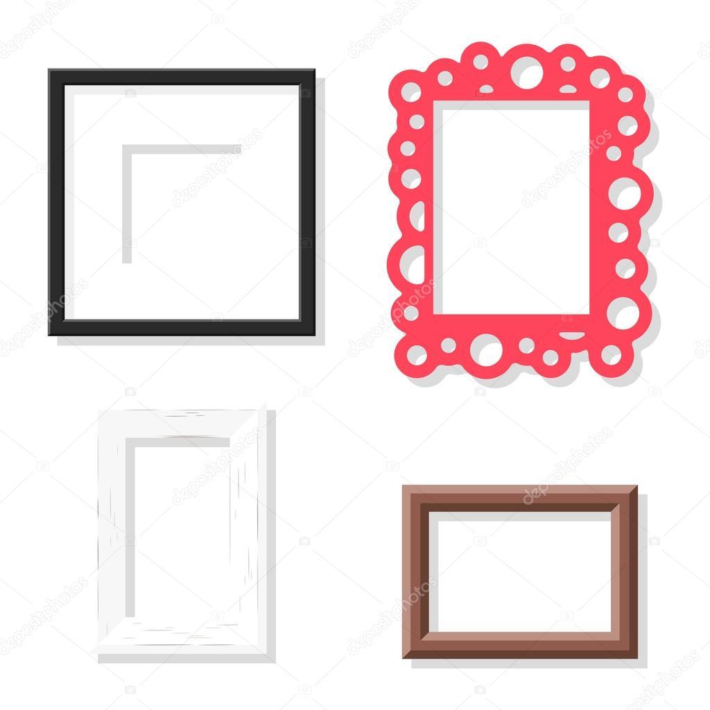 Conjunto de vector de marco foto — Vector de stock © adekvat #120998526