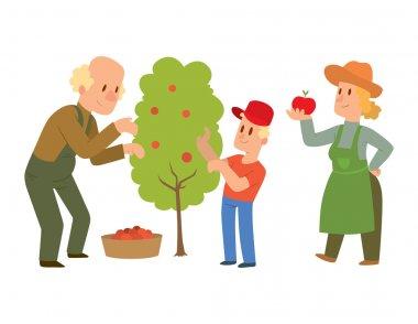 Garden harvest people vector character