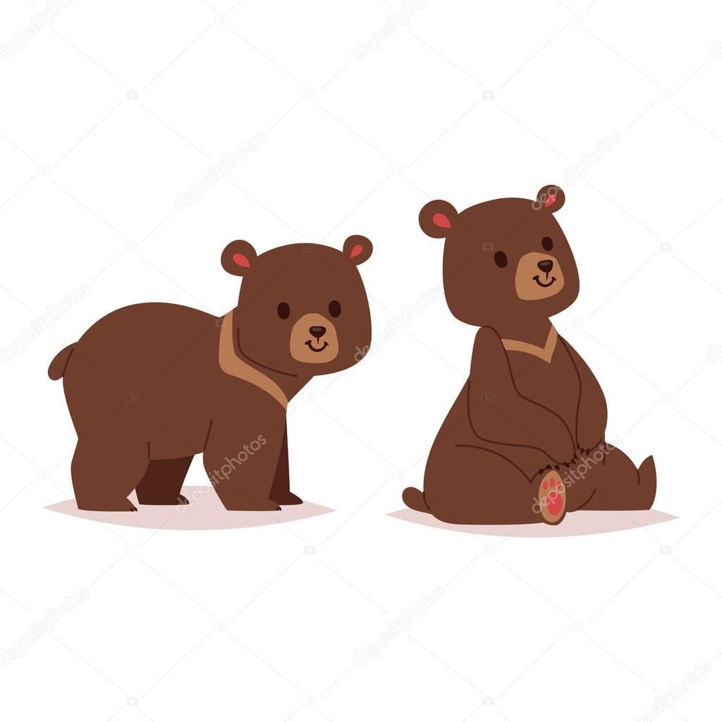 Cartone animato orso vettoriale haracter u vettoriali stock