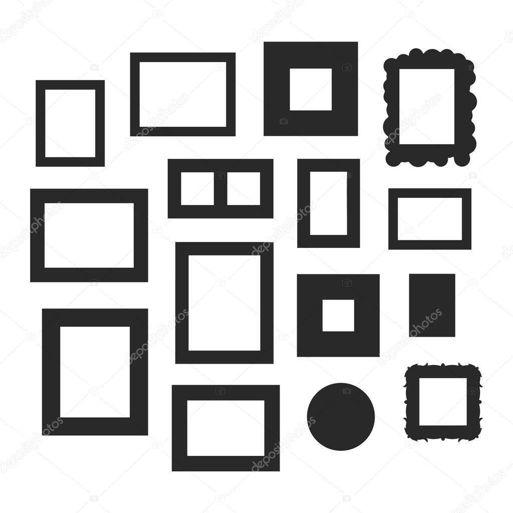 Conjunto de vector de marco foto — Vector de stock © adekvat #121444858