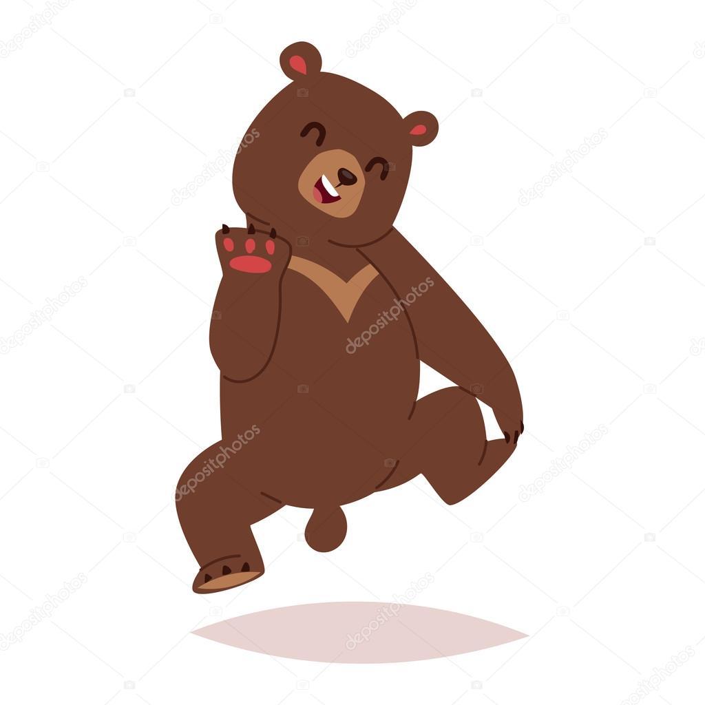 Vettore cartoni animati orsi cartone animato orso vettoriale