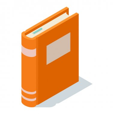 Isometric book icon vector illustration.