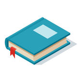 Fotografie Isometric book icon vector illustration.