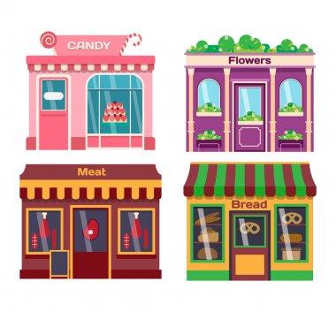Shop facade vector illustration