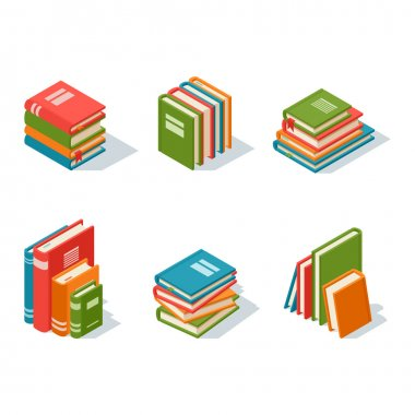 Isometric book icon vector illustration.