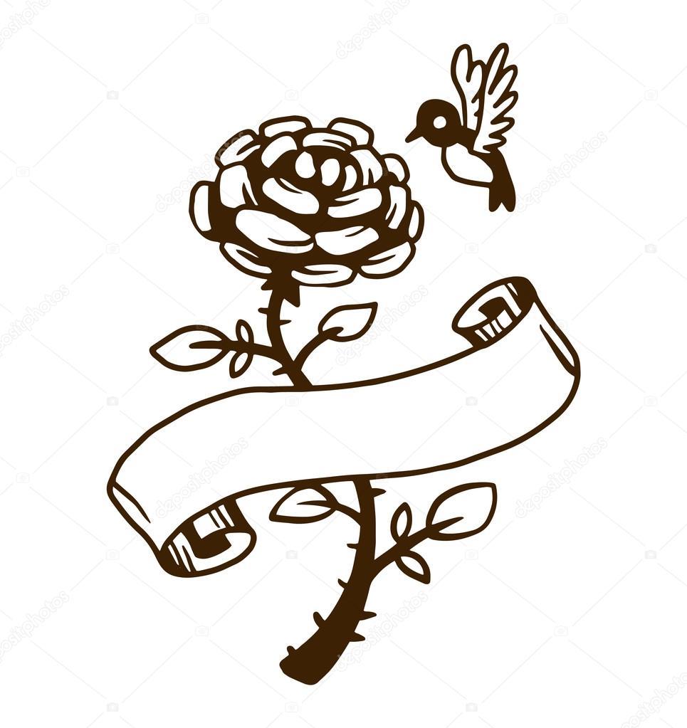 Illustration de vecteur vieux tatouage vintage \u2014 Image vectorielle  123562300