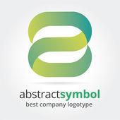 abstraktní vektorová loga koncepce izolovaných na bílém pozadí