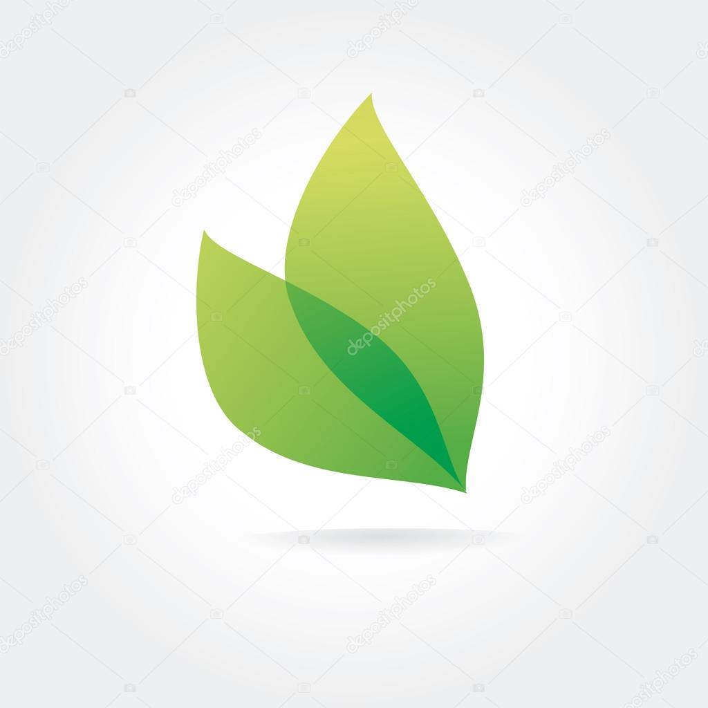 Abstract vector green leaf logotype concept isolated on white background. Key ideas is business, nature, care, fresh, green, colored. Concept for corporate identity and branding