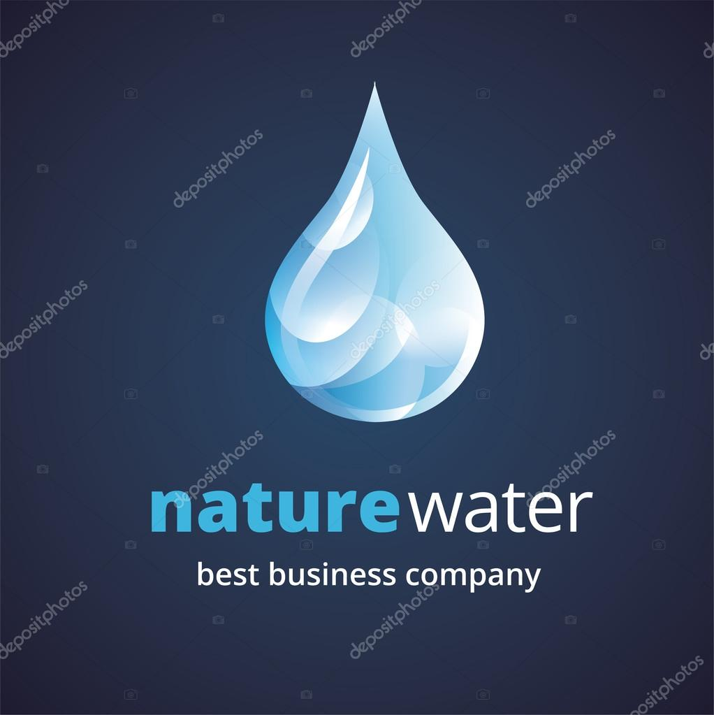 Abstract water logo