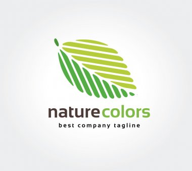 Abstract green leaf nature leafs care vector logo icon concept. Logotype template for branding and corporate design