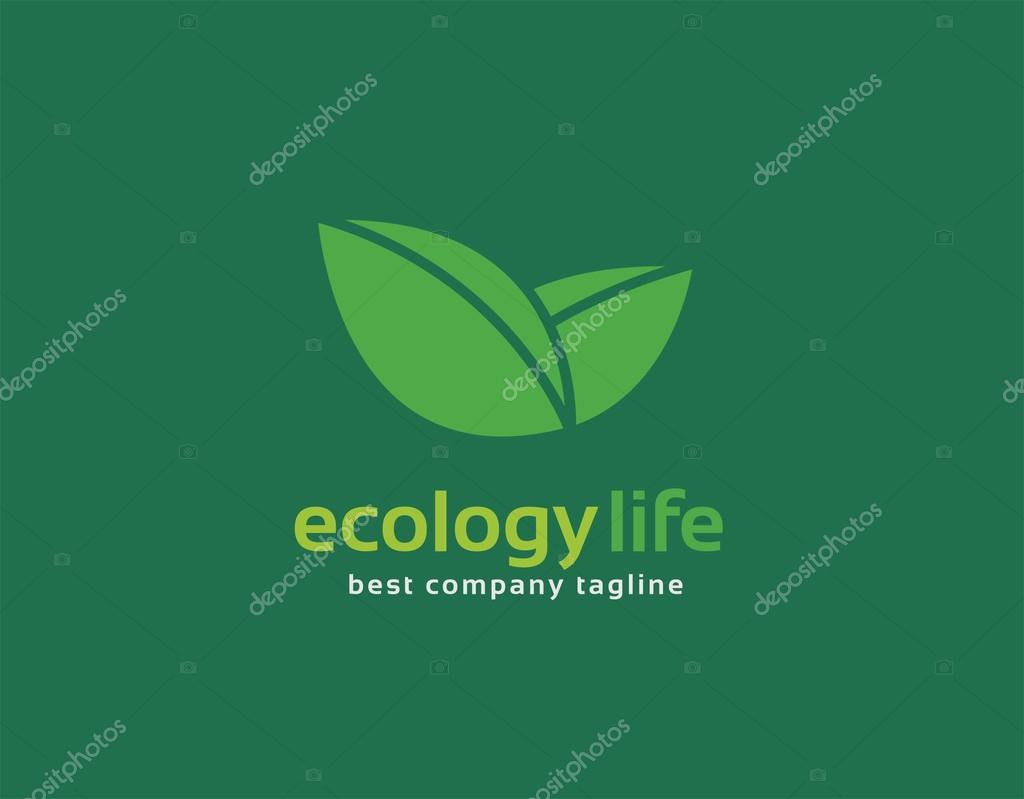 Abstract nature leafs care vector logo icon concept. Logotype template for branding and corporate design