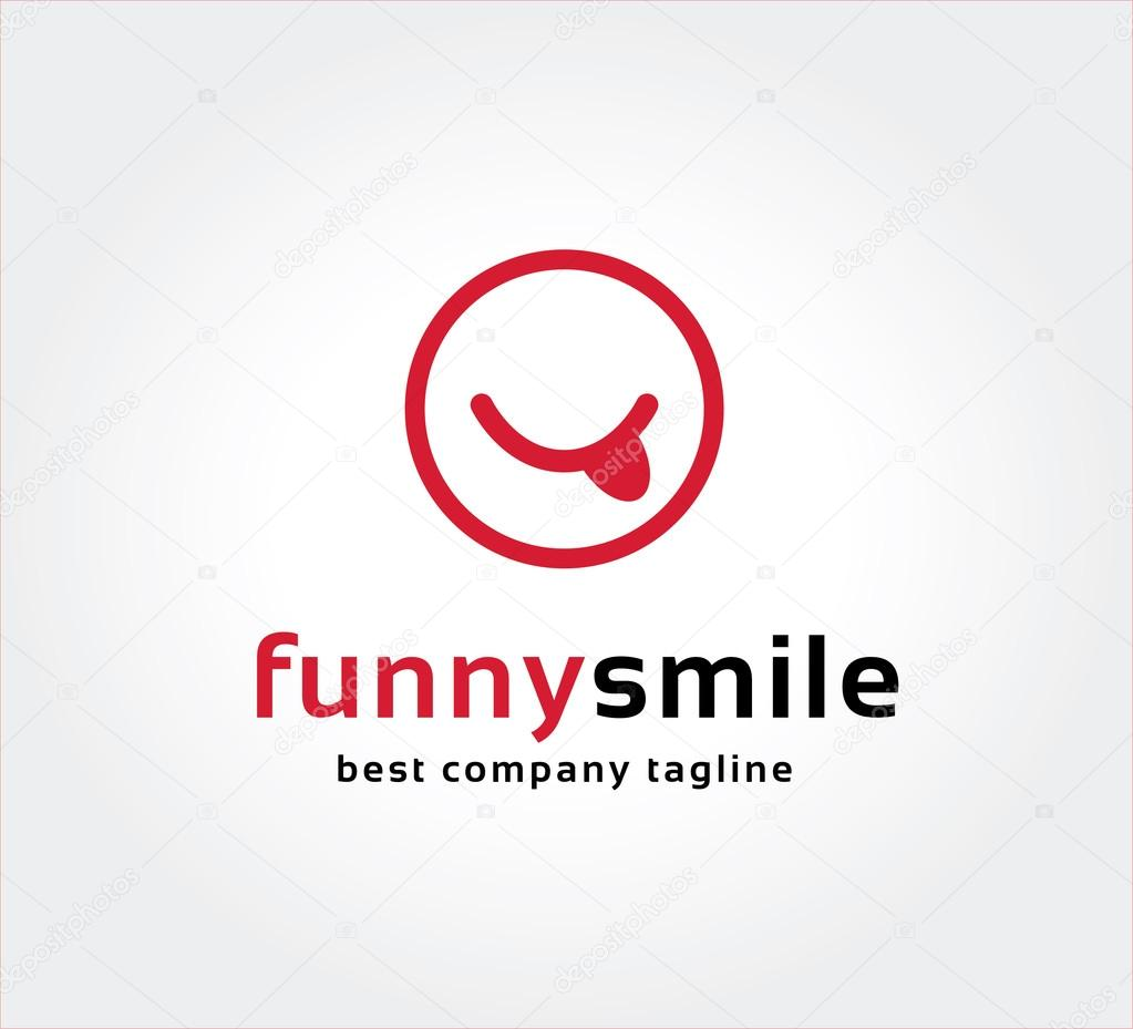 Abstract funny smile vector logo icon concept. Logotype template for branding and corporate design