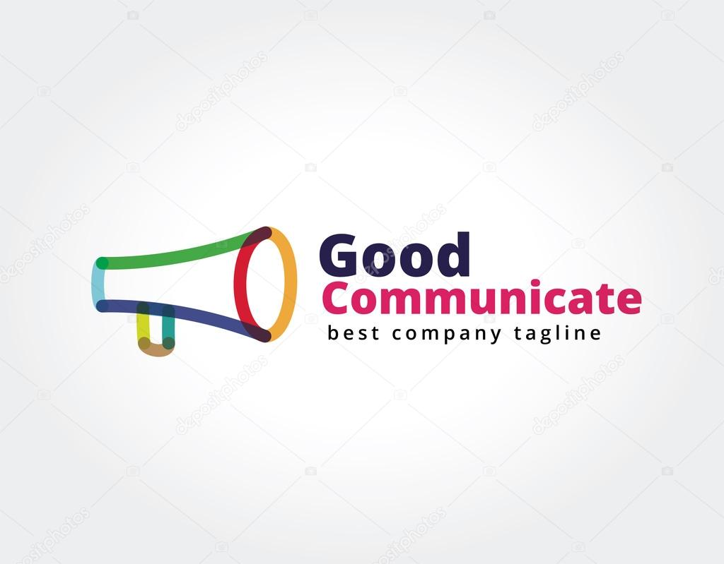 Abstract megaphone vector logo icon concept. Logotype template for branding and corporate design