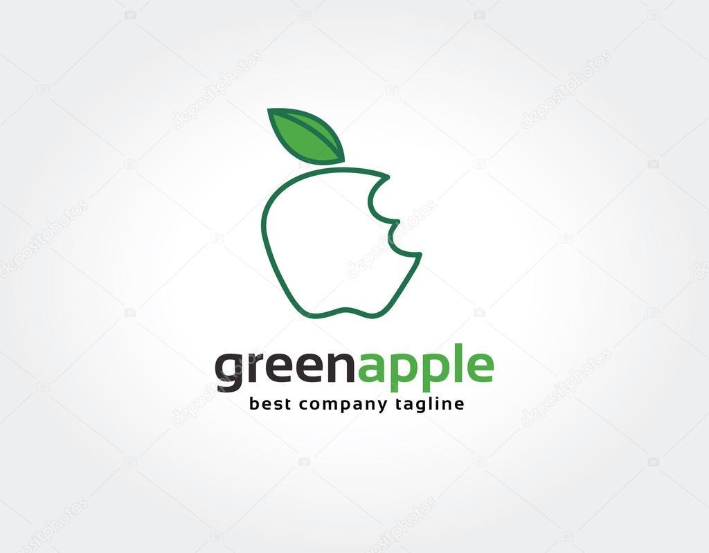 抽象的なかまグリーンアップル ...